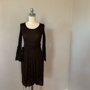Missoni Brown Knit Dress 44